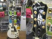 U25076 Epiphone Lespaul Custom /wht Action Ok- Some Wounds Medieval