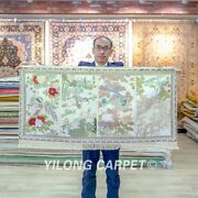 Yilong 2and039x4and039 Four Seasons Tapestry High Density Handwoven Carpet Silk Rug 079h