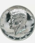 1964 Kennedy Half Dollar Gem 90 Silver Proof Coin Encased In Coin Capsule
