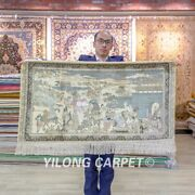 Yilong 2and039x4and039 Silk Road Tapestry High Density Handwoven Carpet Silk Rug 081h