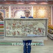Yilong 2and039x4and039 Silk Road Tapestry High Density Hand Knotted Carpet Silk Rug 083h