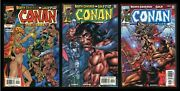 Conan The Barbarian Death Covered In Gold Comic Set 1-2-3 Lot Marvel Buscema Art