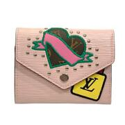 Louis Vuitton Portefeuille Victorine Wallet M63323 Epi Rose Ballerine Pink Used