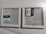 Single Deflection Side Wall Supply Register Grille 10 X 10 Vmlme-wh 10x10
