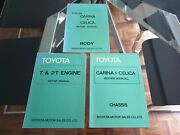 Toyota Factory Body Chassis And Engine Manual For Ta10 Ta12 Carina And Ta22 ...