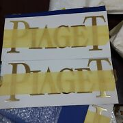 Vintage Piaget Metalic Plaque Display Stand Dealer Sign Plate Swiss Made 40x15cm