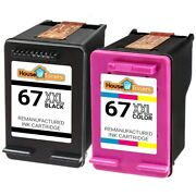 Replacement Hp 67xl Xxl Black And Color Ink For Deskjet Plus 4140 4152 4155 4158