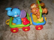 Fisher Price Animal Train Side Car And Animals No Engine