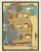 Norman Pate Mid Century Abstract Expressionist Collage Art Rauschenberg School