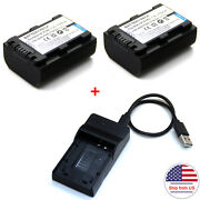 Battery / Charger For Np-fh50 Sony Hdr-xr500v Hdr-xr520v Hdr-cx520v Hdr-ux20 Usa