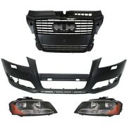Headlights Lamps Set Of 4 Front Left-and-right For Audi A3 Quattro 2009-2013