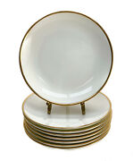 8 And Co. Porcelain Palladium Bread And Butter Plates Gold Band, 2000