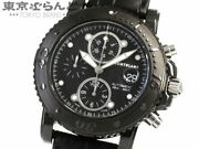 Sports Chronograph 104279 Used Watch Men's Ss Leather Auto Wind Ec