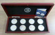 2016 The Heroes Of Pearl Harbor Silver Crown 8 Coin Collection Bradford Exchange