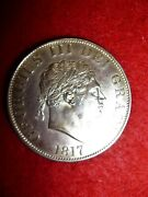 George Iii Half Crown Coin 1817 - Uk / Gb Good Extremely Fine Condition Gb Coin