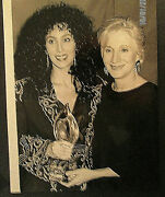 Cher Olympia Dukakismoonstruck Vintage Candid Press Photo Classic Cher