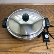 Saladmaster K7256 Electric Skillet 12 Inch Liquid Core Stainless Steel Fry Pan