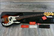 Unplayed Fender American Ultra Precision Bass 4-string Ultraburst+ohsc And Papers