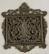 An Antique Gothic Bronze Wall Or Door Mail Holder
