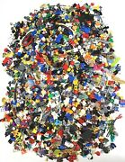 Lego Huge 3.5 Pound Lot Of Minifigure Parts And Accessories Incomplete People Bulk