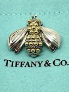 Rare Vintage And Co Bumble Bee Pin Brooch Sterling 18k Gold Box And Pouch