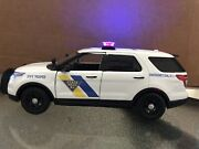 New Jersey State Police 1/24 Scale Ford Explorer Diecast W Lights And Siren Njsp