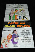 Carry On Again Doctor - Rare British Three Sheet - Sidney Sid James Joan Sims