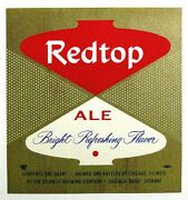 Atlantic Brewing Co Redtop Ale Beer Label Il One Quart