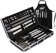 Deluxe Grill Set Grill Accessories 21 Piece Grilling Set Heavy Duty