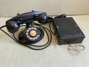 Antique Western Electric 202 Telephone D1 Oval F1 Handset 684-a Ringer Box Bell