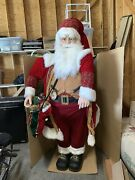 Life Size Deluxe Members Mark Christmas Santa Claus Tall Over 6and039
