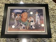 24 X 32 Mickey Mantle Le Signed Watts Litho /1000 Uda Cert Card And Sticker