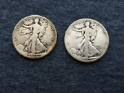 1917-s And 1919-s Silver Walking Liberty Half Dollars Early Better Dates