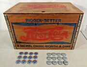Vintage Pepsi Cola Wooden Crate Checker Board Lid Cap Checkers 1940and039s Nice