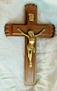 Last Rites Wooden Vintage Cross Crucifix Candles Holy Water Bottle Christianity
