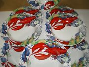 Mint Set Of 8 Youngberg Co 1998 Yandco Lobster Fest 10.1/8 Seafood Rim Soup Bowl