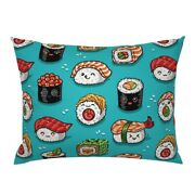 Sushi Japanese Rice Roll Sashimi Food Seafood Kawaii Pillow Sham By Roostery