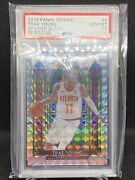 Trae Young Hawks 2019-20 Panini Mosaic Stained Glass Prizm 4 Psa 10 Gem Mint