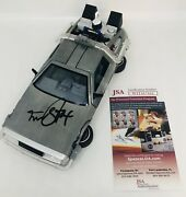 Michael J Fox Signed Back To The Future 124 Scale Diecast Delorean Jsa Coa