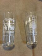 2 Pre Prohibition Liquor Advertising Shot Glass Henry Isaacs And Richardson's