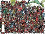 Deadpool 300 Comic Cover Poster Every Deadpool Ever Marvel 2018 New Rolled