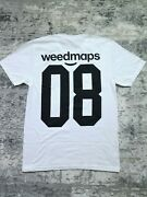 Weedmaps 420 Weed Maps Jersey T Shirt 08 Tech Company Computer Tee Size M