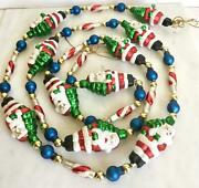 6andrsquo Vintage Glass 10 Santa Candy Cane Glass Christmas Garland