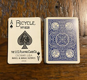 Rare Vintage Bicycle No. 808 Russell Morgan Expert Back Playing Cards Joker Blue