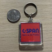 C-span Open To The Public Political Cable Channel Keychain Key Ring 40162