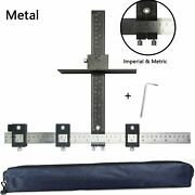 Cabinet Hardware Jig Aluminum Alloy Drawer Drilling Template Punch Locator Drill