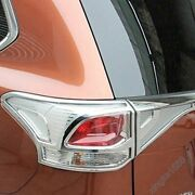 For Mitsubishi Outlander 2013 - 2015 Sty Chrome Rear Tail Light Lamp Cover Trim