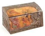 Antique Russian Wood Box With Basma Abramtsevovery Large