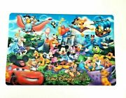 Disney World Lenticular Placemat Mickey And Friends 3d Plastic Wall Decoration