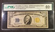Fr-2309 1934 A Series North Africa Wwii 10 Silver Certificate - Pmg 40 Epq